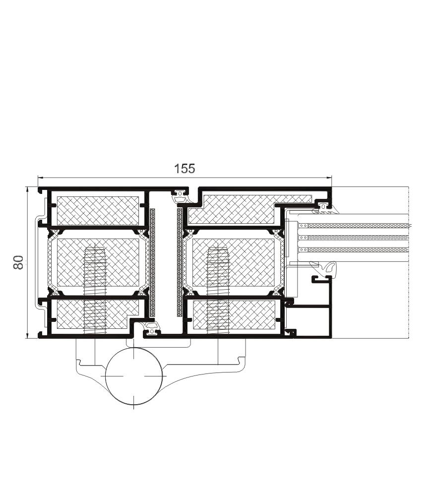 Sección del sistema Puerta Millennium  FR  RPT